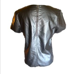 Express Tops - Like New- Faux Leather Top